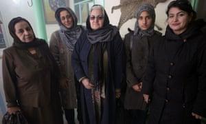 Mirman Baheer members Bilqes, Gulalai Omerkhel, Sahira Sharif, Lima Niazi and Ogai Amail.
