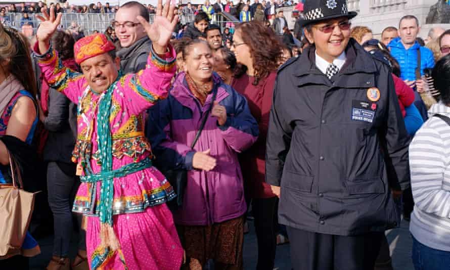 Diwali 2013 celebrations in Trafalqar Square, London.
