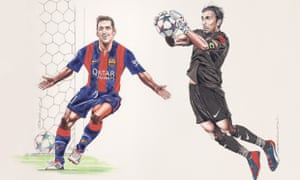 Lionel Messi and Gianluigi Buffon go head to head in the 2015 Champions League final.
