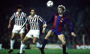 Steve Archibald with Gaetano Scirea looking on. The kits are gorgeous, aren't they.