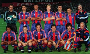 Barcelona, hot favourites in 1994, minutes before it all went wrong.