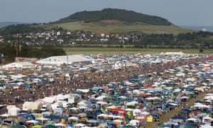 The camping site of the music festival Rock am Ring in Mendig, where 33 people where injured in lightning strikes.