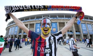 It's Juventus v Barcelona in the Champions League final, and this happens.