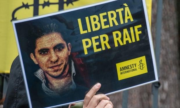 Raif Badawi protest