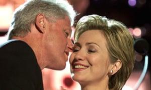 Bill and Hillary Clinton on their 25th wedding anniversary