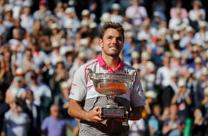 Stan Wawrinka poses with the trophy.