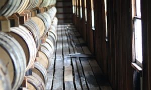 The barrel house at the Jack Daniels' distillery.
