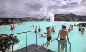 The Blue Lagoon, a popular tourist destination in Grindavik, Iceland