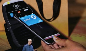 Apple chief executive Tim Cook launches Apple Pay in September 2014.