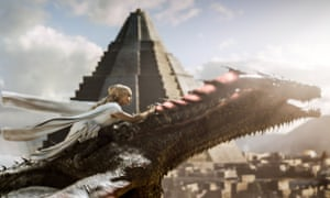 On the wings of a dragon…Daenerys makes her escape.