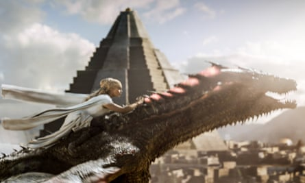 On the wings of a dragon… Daenerys makes her escape.