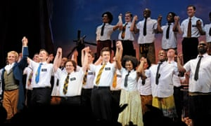 Cast members of The Book of Mormon in London