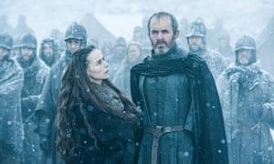 The Baratheons make a choice…Tara Fitzgerald and Stephane Dillane.