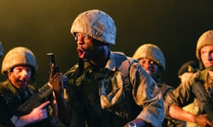 Adrian Lester in Henry V, National Theatre London 2003