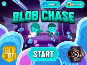 PBS Kids' Odd Squad: Blob Chase mobile game.