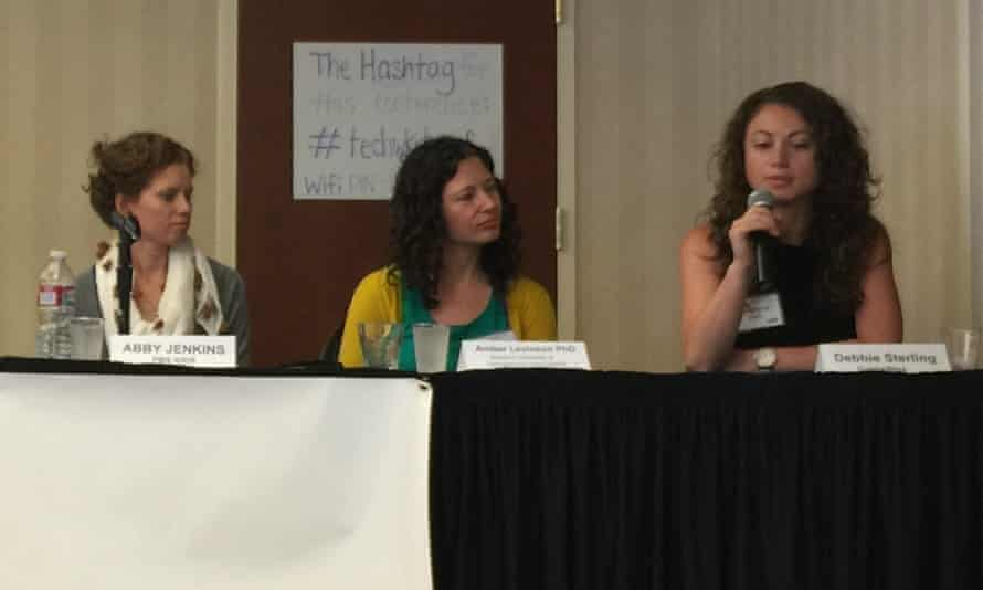 Abby Jenkins, Amber Levinson and Debbie Sterling at the Developing Apps For Kids event.