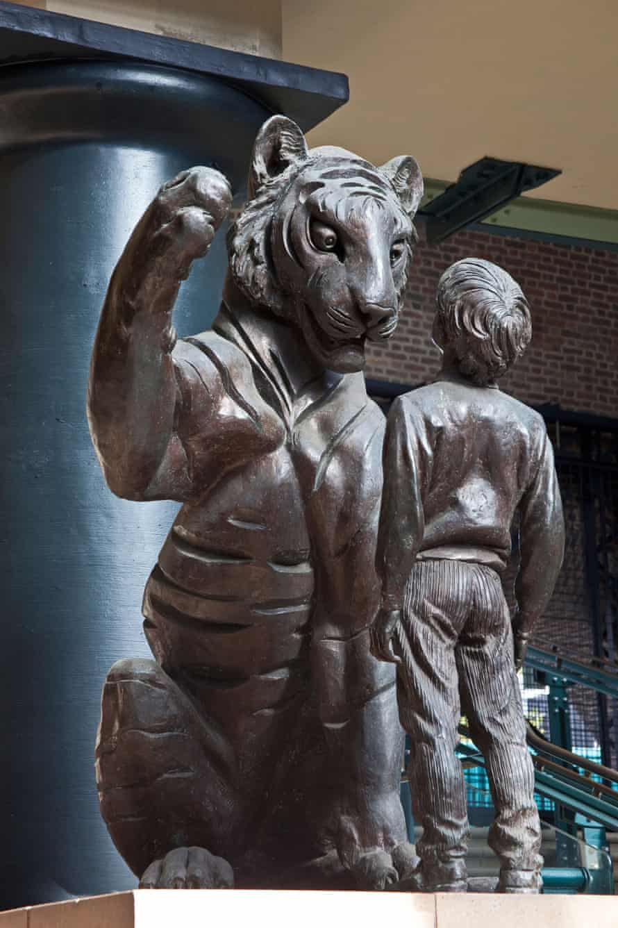The Boy and the Tiger sculpture at Tobacco Dock, Wapping, London