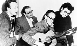 Ronnie Gilbert, right, with her fellow band members, from left: Pete Seeger, Lee Hays and Fred Hellerman.