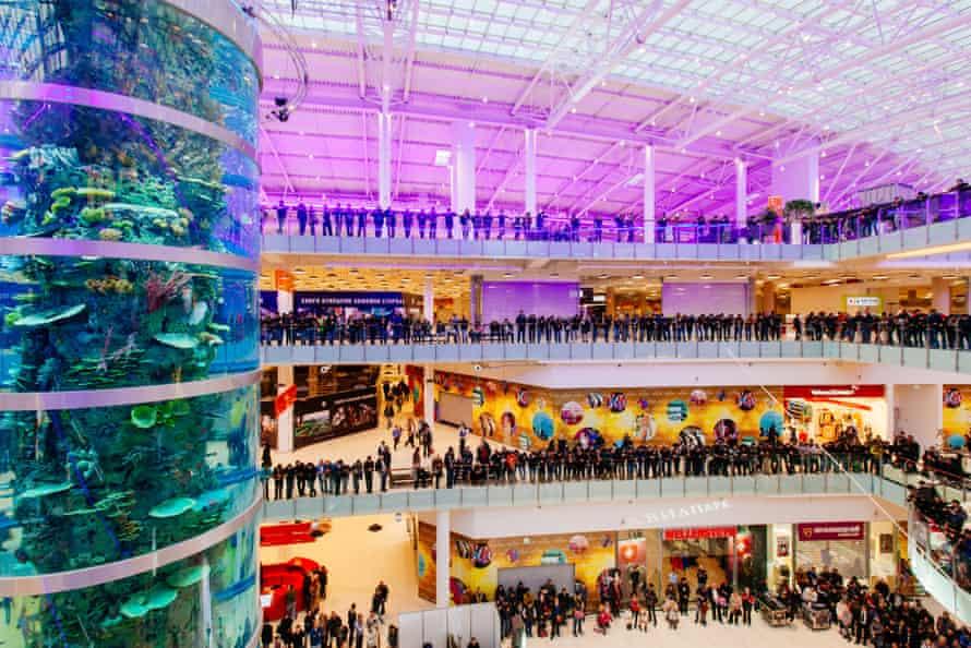 Aviapark shopping centre on opening day.