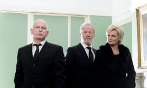 Stonemouth's Mike (Gary Lewis), Don (Peter Mullan) and and Connie (Sharon Small).