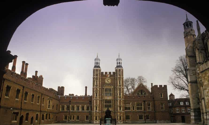 The clock tower at Eton College