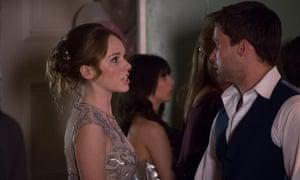 Ellie (Charlotte Spencer) and Stewart (Christian Cooke).