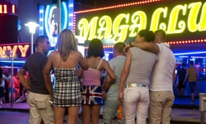 Magaluf is particularly popular with British teenagers celebrating the completion of their GCSE or A-Level exams.