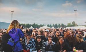 Crowd at 2014 Secret Solstice music festival