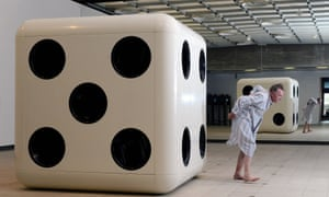 Adrian Searle almost does himself a mischief during an encounter with a giant dice.