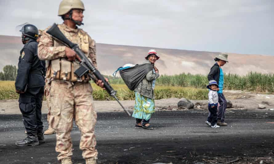 Peru's government has responded to the Tia Maria protests by sending in the army.