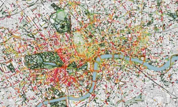 A composite 'smellscape' of London