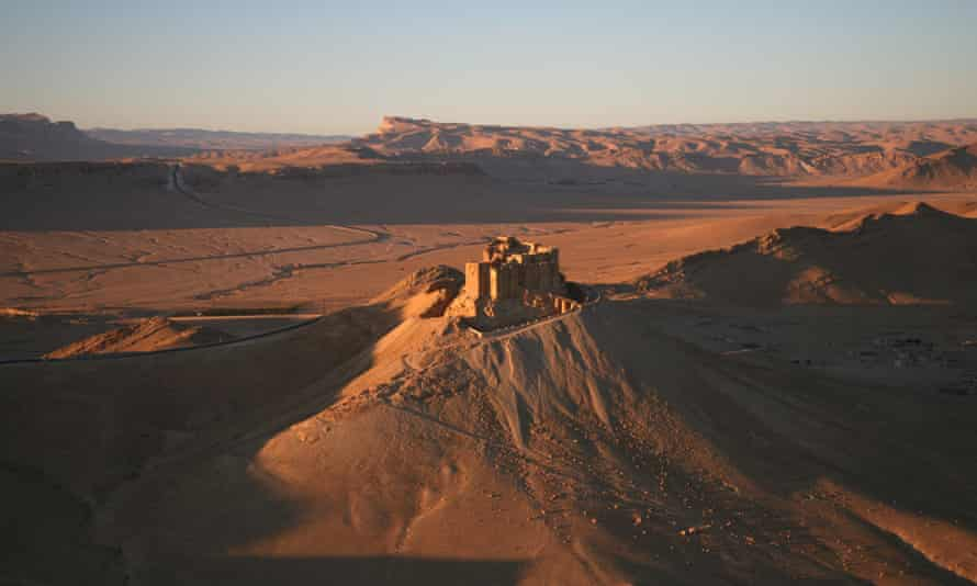 Part of the ancient city of Palmyra, January 2009.
