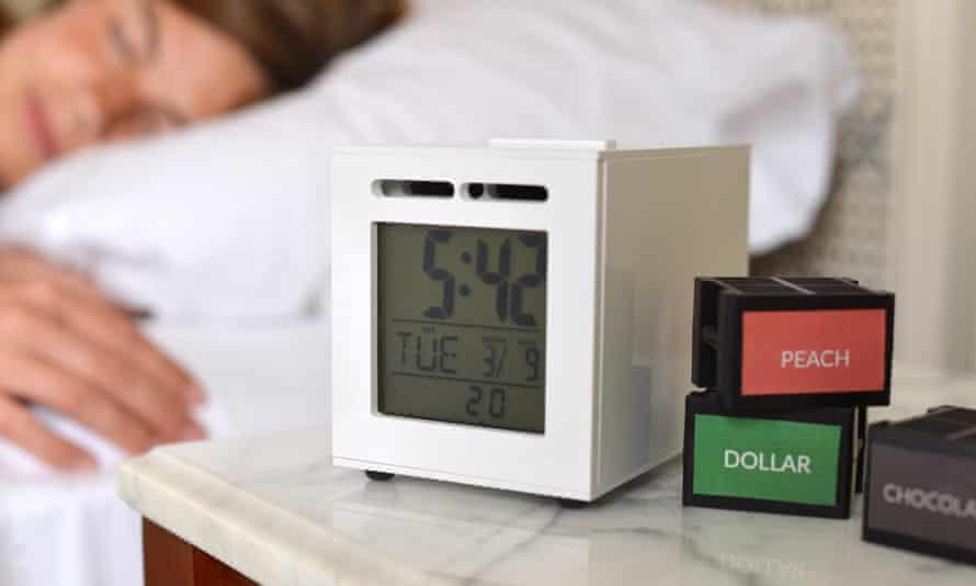 The SensorWake fragrant alarm clock.