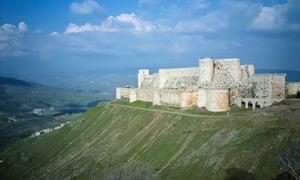 Krak des Chevaliers crusaders' castle, Syria.