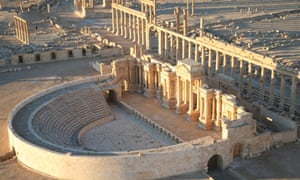 Part of the ancient Syrian city of Palmyra.