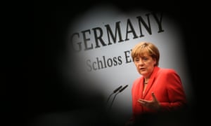 German Chancellor Angela Merkel speaks during a news conference during the G7 summit at the Elmau Castle near Garmisch-Partenkirchen, southern Germany, on June 8, 2015.