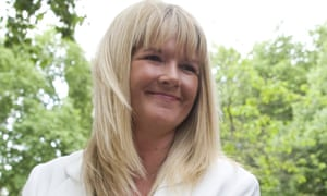 Alison Sharland, 48, from Wilmslow, Cheshire, who is appealing against her divorce settlement, leaves the supreme court in London.