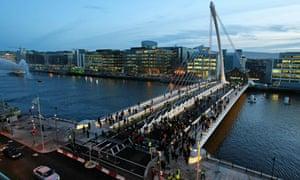 The Samuel Beckett bridge in Dublin.