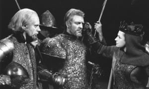 Peggy Ashcroft, with Donald Sinden and Royal Shakespeare Company members, in the 1963 production The Wars of the Roses.