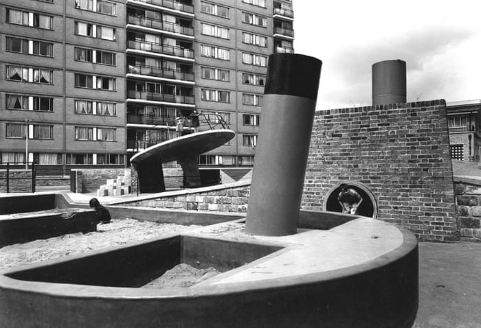 Churchill Gardens Estate in Pimlico, London, 1956