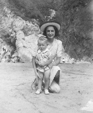Michael Moorcock with his mother at St Davids, Wales.