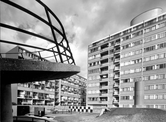 Churchill Gardens Estate playground in Pimlico, London, 1963