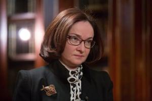 Elvira Nabiullina, governor of Russia's central bank.