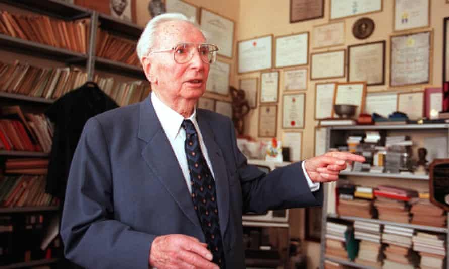 Holocaust survivor, psychiatrist and author Viktor Frankl