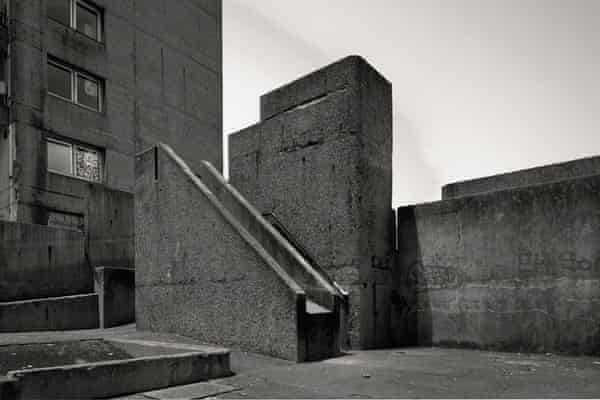 the Ernő Goldfinger-designed Balfron Tower playgound in east London.