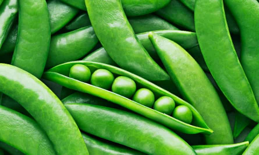 Peas and pea pods