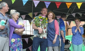 Community spirit: the London Road film, starring Olivia Colman (centre) and Anita Dobson (left).
