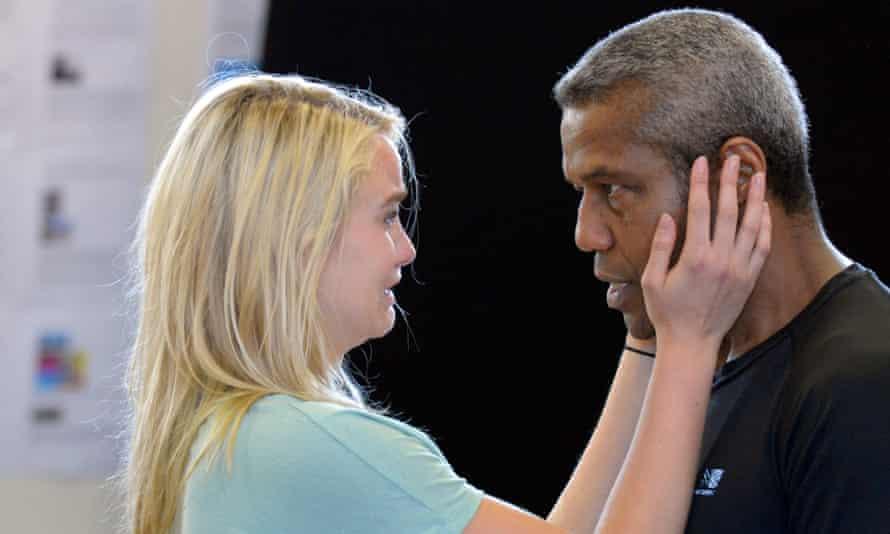 Hugh Quarshie (Othello) and Joanna Vanderham (Desdemona)Royal Shakespeare Company production ofOTHELLOby William  Shakespearedirected by Iqbal Khan