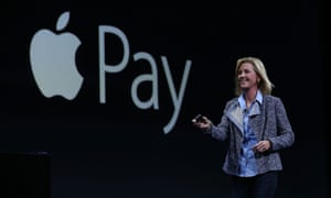 Apple Vice President of Worldwide Online Stores, Jennifer Bailey, speaks about Apple Pay during Apple WWDC on June 8, 2015 in San Francisco, California.