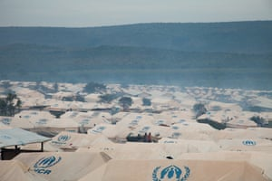 Rows of tents in the Mahama refugee camp in eastern Rwanda. The camp, which opened in April, hosts over 24,000 Burundian refugees.